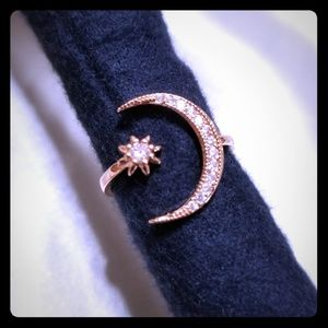 Pretty Rose Gold Moon & Star Ring 🌟🌙